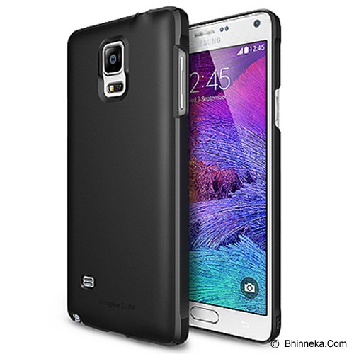 REARTH Ringke Slim Samsung Galaxy Note 4 [RSSG032] - Black - Casing Handphone / Case
